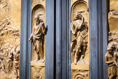 The Gate of Paradise - Baptistery, Florence Stock Photos