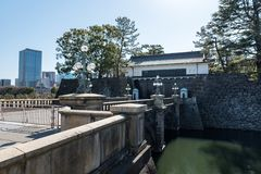Gate of park in Chyioda to Inperial Palace, Tokyo stock photos