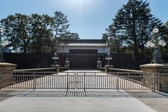 Gate of park in Chyioda to Inperial Palace, Tokyo, Japan stock images