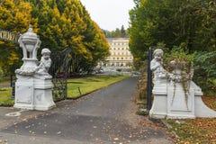 Gate in parkhotel Richmond, Karlovy Vary Royalty Free Stock Photos