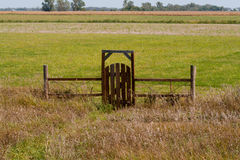 Gate into the Pasture Royalty Free Stock Images
