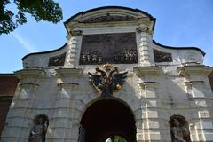 Gate in the Peter and Paul Fortress stock photos