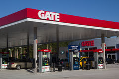 Gate Petroleum. JACKSONVILLE, FL - APRIL 21, 2014: A Gate Petroleum gas station in Jacksonville. Gate Petroleum is headquartered in Jacksonville and has over 225 Stock Photo