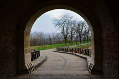 Gate at the Petrovaradin fortress Stock Image