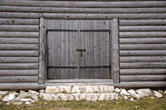 Gate photo. Photo of closed wooden gate royalty free stock photo