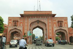 Gate of Pink City Stock Image