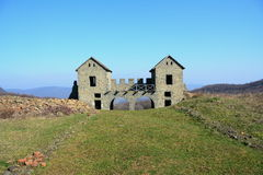 Gate of the Porolissum roman castrum from Transylvania, Romania Royalty Free Stock Images