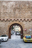 Gate Porta San Miniato in city wall in Florence Royalty Free Stock Photography
