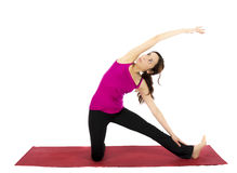 Gate Pose in Yoga royalty free stock photo