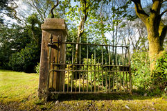 Gate and Post Royalty Free Stock Photos