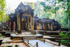 The gate of prasat ta prohm Stock Image