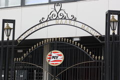 Gate. The gate of the PSV Stadion Royalty Free Stock Photo