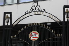 Gate. The gate of the PSV Stadion Stock Images