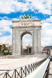 Gate Puerta de Moncloa, Madrid, Spain Royalty Free Stock Photography
