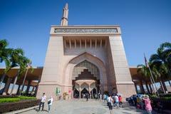 Gate of Putra Mosque, Putrajaya, Malaysia. PUTRAJAYA, MALAYSIA - MAY 25, 2015 : Entrance gate of Putra Mosque (Masjid Putra), the principal mosque of Putrajaya Stock Photos