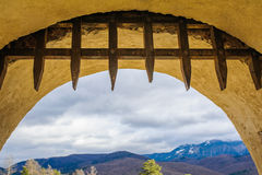 The gate of the Rasnov Fortress in Transylvania Stock Images