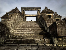 The Gate of Ratu Boko Palace Royalty Free Stock Photos