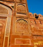 Gate at Red fort of Agra Royalty Free Stock Photo