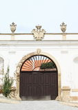 Gate of riding-school in Mikulov Royalty Free Stock Images