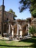The gate of the Roman Emperor Hadrian. Antalya,Turkey Royalty Free Stock Photo