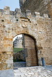 Gate of the Row, in Berlanga del Duero, Soria Spain. Gate of the Row, on the wall as a gateway to the Castle of Tovar, Berlanga del Duero, Soria Spain Royalty Free Stock Photos