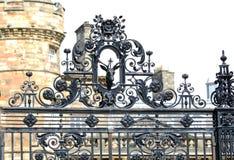 Gate at Royal palace of Holyroodhouse, Edinburgh, Scotland Royalty Free Stock Image