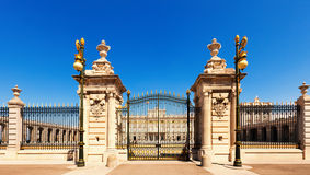 Gate of Royal Palace. Madrid, Spain Royalty Free Stock Photos