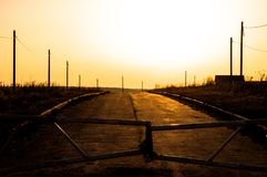 Gate`s locked.the end of the road. royalty free stock photography