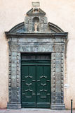 The gate of the Saint Tropez church. The gate of the St. Tropez church Notre damme de la Misericorde, PACA, France Stock Photography