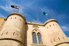 Gate of Saladin Citadel Stock Images