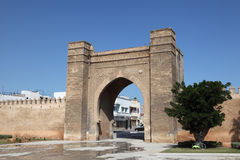 Gate in Sale, Morocco. Gate to the medina of Sale, Morocco Royalty Free Stock Photography