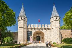 The Gate of Salutations, main entrance to the Topkapi Palace in Istanbul, Turkey