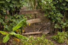 Gate on San Cristobal Island Stock Photo