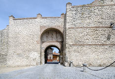 Gate and San Miguel arch walls Olmedo Stock Images