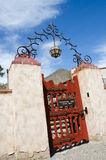 Gate in Scotty's Castle in Death Valley Stock Images
