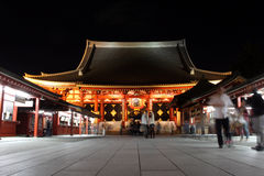Gate of Senso-ji Temple at night, Asakusa, Tokyo, Japan Stock Photography