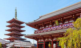 Gate at Sensoji Asakusa Temple Royalty Free Stock Photo