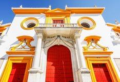 The gate of  Seville bull arena in Sevilla, Spain Stock Images
