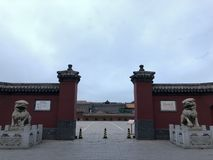 The Gate of Shenyang Palace Museum, China stock photography