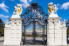 Gate from side of Upper Belvedere Palace, Vienna Stock Image