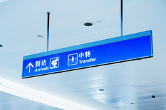 Gate sign at the airport Royalty Free Stock Photography
