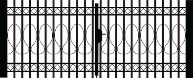 Gate silhouette royalty free stock image