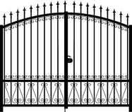 Gate silhouette vector Royalty Free Stock Photography