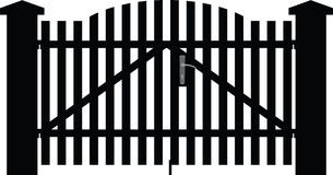 Gate silhouette vector Royalty Free Stock Photo