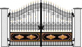 Gate silhouette vector Stock Photography