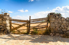 A gate in spain. This was taken in rural Spain Stock Image