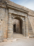 Gate at Spinalonga fortress, Crete, Greece Royalty Free Stock Photography