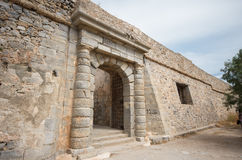 Gate at Spinalonga fortress, Crete, Greece Stock Image