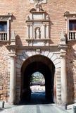 Gate on Square Plaza de San Martin, Toledo, Spain. Royalty Free Stock Photography