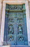 The gate of St Isaac Cathedral in St Petersburg Stock Photography